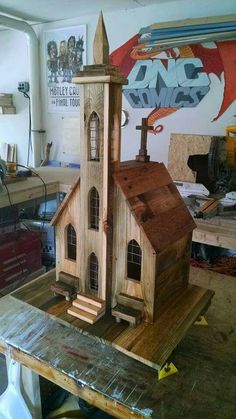 Wooden Bird Houses, Decorative Bird Houses, Bird Houses Painted, Bird Houses Diy, Fairy Houses, Bird House Feeder, Bird Feeders, Homemade Bird Houses, Bird House Plans