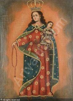 CUZCO SCHOOL - Madonna and Child, (2)