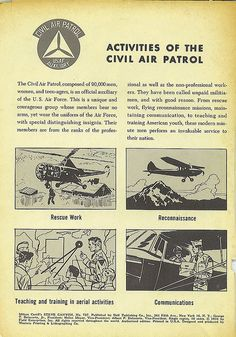 Civil Air Patrol, NHQ, 1956