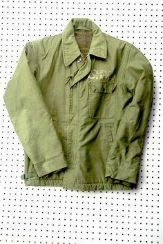 """Virgil Normal Vintage OD Navy Deck Jacket """"shack"""""""