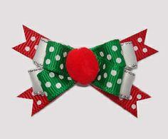 #BTQM570 - Mini Boutique Bow Festive Dots, Pom Pom