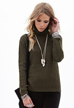 Ribbed Turtleneck Sweater | FOREVER21 - 2000083732