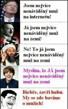 Jo! Zavři hubu Biebře! Funny Pins, Funny Memes, Good Jokes, Pranks, Haha, Funny Pictures, Humor, Nerf, Quotes