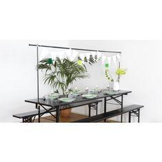 Decoratieframe met tafelklem zwart tot 250 cm lengte- deluxe uitvoering35 euro gardendiscount.nl