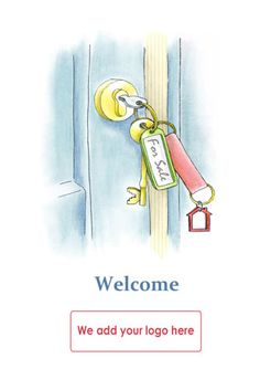Welcome card for Estate Agents to send to their clients when instructed to sell a property. Reference number: W30