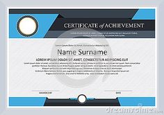 certificate of achievement frame design template stock vector image 66656753