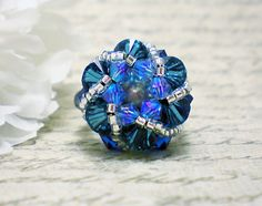 The Abby Brilliant Blue and Silver Swarovski by NiteDreamerDesigns, 10% of Sales go to SharkSavers.org