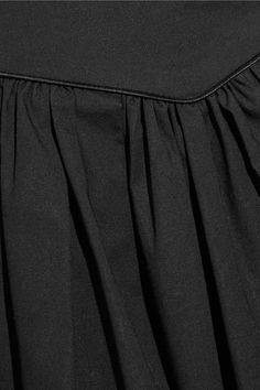 Marc Jacobs - Belted Gathered Stretch-cotton Poplin Mini Skirt - Black - US00