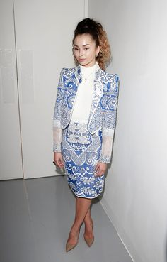 Ella Eyre attends the Bora Aksu show during London Fashion Week February 2017 collections on February 17, 2017 in London, England.