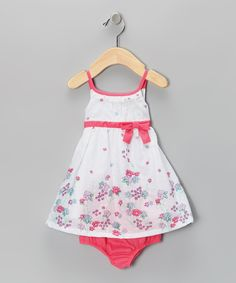 White Bud Dress & Diaper Cover - Infant #zulily #fall