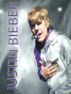 "Justin Bieber Sings Super Soft Fleece Throw Blanket 50"" x 60"""
