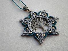 Macrame ''Tree Of Life - MANDALA'' Necklace. Tribal necklace. Bohemian jewelry. Spiritual Jewelry.