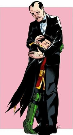 Wayne and AlfredYou can find Damian wayne and more on our website.Wayne and Alfred Batman Y Robin, Son Of Batman, Robin Dc, Batman Comic Art, Gotham Batman, Robin Logo, Damian Wayne Batman, Batman Ninja, Dc Comics