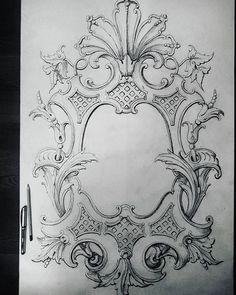 """Эскиз резного медальона в стиле""""классицизм"""". Sketch of a carved…"""