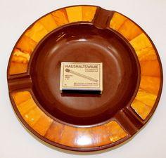 Cadinen Keramik Aschenbecher mit Bernstein Amber 伯恩斯坦 butterscotch Wilhelm II