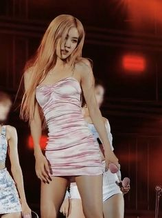 Image in blackpink ⁴ collection by cass ♡¨̮ on We Heart It Blackpink Outfits, Stage Outfits, Fashion Outfits, Pink Dress Outfits, Blackpink Fashion, Korean Fashion, Korean Girl, Asian Girl, Rose Pink Dress