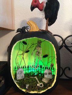 Posts about Pumpkin Carving written by historymaniacmegan Halloween Diorama, Halloween Fairy, Halloween Miniatures, Halloween Village, Halloween Haunted Houses, Halloween House, Cute Halloween, Halloween Crafts, Halloween Decorations