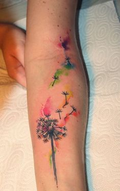100 Watercolor Tattoos that Perfectly Replicate the Medium water color tattoo designs Aquarell Tattoos, Kunst Tattoos, Body Art Tattoos, New Tattoos, Tattoos For Guys, Tattoos For Women, Sleeve Tattoos, Tatoos, Tattoos Of Kids Names