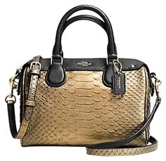 a991ded53470 Coach Baby Bennett Gold Metallic Satchel. Save 50% on the Coach Baby  Bennett… Tradesy