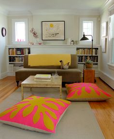 Molly's Sketchbook: Hawaiian Style Felt Floor Pillows by the purl bee, via Flickr