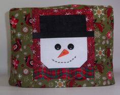 Smiling Snowman Toaster Cover  Christmas by PatsysPatchwork, $18.00
