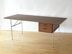 Vintage Original Omni System Free Standing Desk w Walnut Drawers George Nelson #MidCenturyModern #StructuralProductsInc