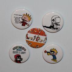 Set of 5 Calvin and Hobbes orange by CustomizedFlare on Etsy