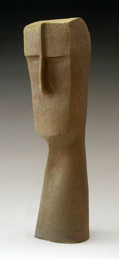 tall head 2: W. Mitch Yung: Ceramic Sculpture- STUDIO SALE - Artful Home