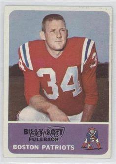 Billy Lott Boston Patriots (Football Card) 1962 Fleer #1 by Fleer. $10.50. 1962 Fleer #1 - Billy Lott