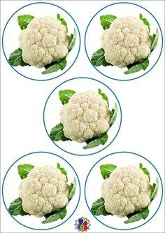 Autumn Activities, Fruits And Vegetables, Cauliflower, Flora, Stickers, Vegetables, Felt Toys, Food Items, Teaching Aids