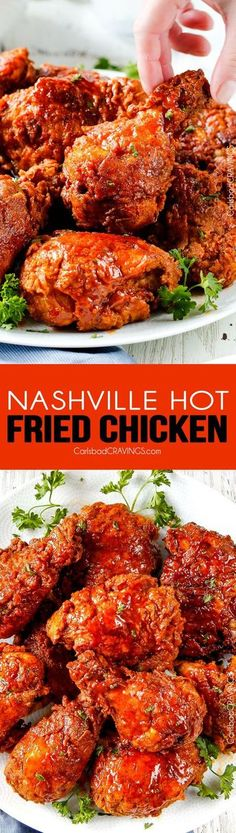 Nashville Hot Fried Chicken - My family and friends go crazy over this fried chicken - and its easier than you think! Juicy, crispy, flavorful and you can make it as spicy or not spicy just depending on how much Sauce you use. I will never use another fri