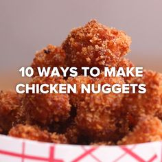 Quick and Easy chicken nuggets label special-diet special diet Homemade Chicken Nuggets Recipe Chicken Nugget Recipes, Homemade Chicken Nuggets, Baked Chicken Nuggets, Recipe Chicken, Snack Recipes, Cooking Recipes, Cooking Videos Tasty, Game Recipes, Easter Recipes