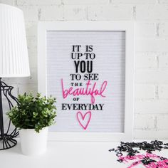Add inspiration to your world with the Heidi Swapp letterboard!