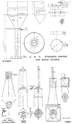 Locomotives Vintage Technical Drawing by CarambasVintage