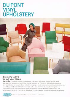 DuPont Vinyl Upholstery, 1960 - remember that yellow chair in the family room?