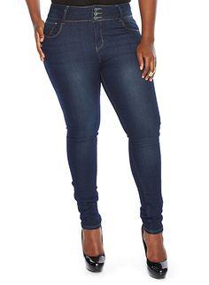 Plus-Size Dark Wash Jeans