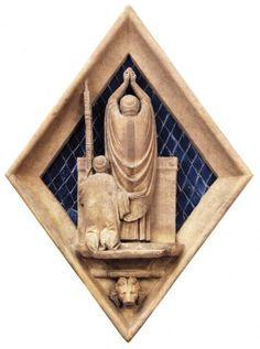 Maso di Banco, e aiuti - Eucarestia - c. 1345 - marmo e tessere vitree - Museo dell'Opera del Duomo, Firenze