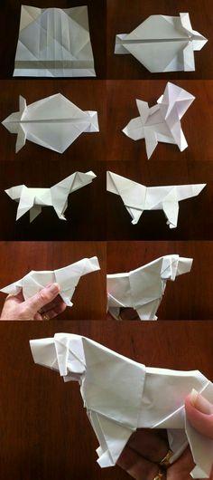 Origami Tutorial plus free silhouette file from Nadine Muir from Silhouette UK Blo . - DIY paper b Origami Design, Origami Dog, Instruções Origami, Origami Star Box, Origami And Kirigami, Origami Dragon, Origami Fish, Paper Crafts Origami, Diy Paper