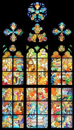 プラハ聖ニャート大聖堂のステンドグラス (c)Shu Yamamoto / APPLE FARM INC.
