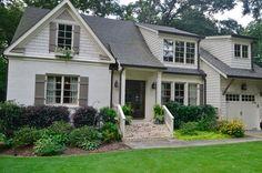 69 Ideas For House Exterior Paint Dark Trim House Paint Exterior, Exterior House Colors, Exterior Design, Exterior Shutters, Black Shutters, Exterior Paint Colors For House With Stone, Beige House Exterior, Small Shutters, White Exterior Houses