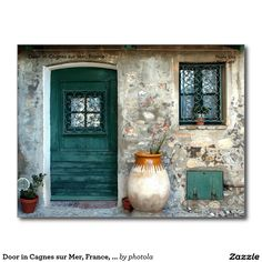 Door in Cagnes sur Mer, France, ... Postcard
