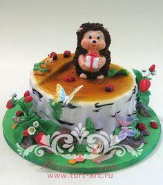 """Детские торты — Детский торт """"Ежка"""""""