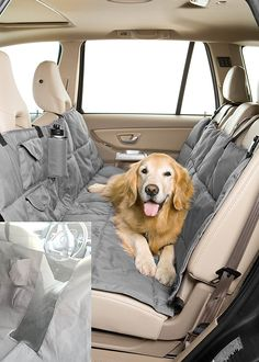 Pet Travel Hammock Dog Car Seat Cover-Eco-Friendly* Reversible* Quilted* Slate/Sand > Want to know more, visit the site now : Products for dogs