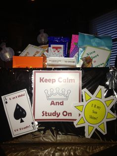care package for finals...study like a nerd!