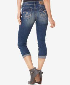 Silver Jeans Co. Suki Indigo Wash Cropped Jeans