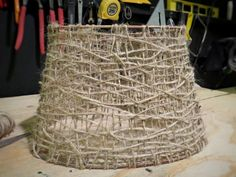 Make A Jute Lampshade for Cheap!