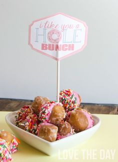 'I Like You A Hole Bunch' FREE Valentine Printable
