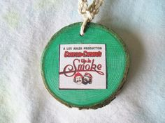 Hemp Necklace CHEECH AND CHONG Wood Slice by BeansterGoods on Etsy, $9.99