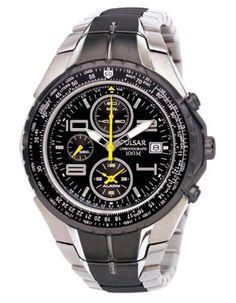 Pulsar Tech Gear Flight Computer Chronograph - Black Face & Bracelet Accent
