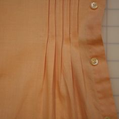 men's shirt refashioned with pin tucks and shirring